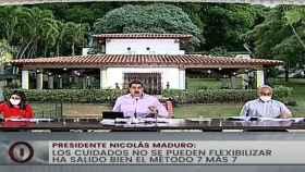 Nicolás Maduro en su comparecencia televisada haciendo balance de la pandemia en Venezuela.