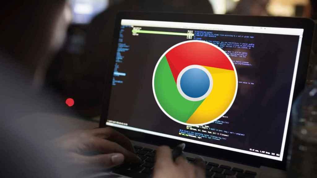 Google Chrome en el PC de un hacker.
