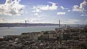 Vistas de Lisboa desde el barrio de Baixa.