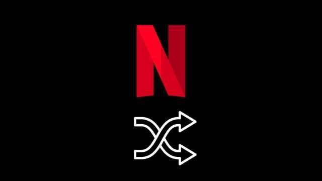 Botón de aleatorio en Netflix.