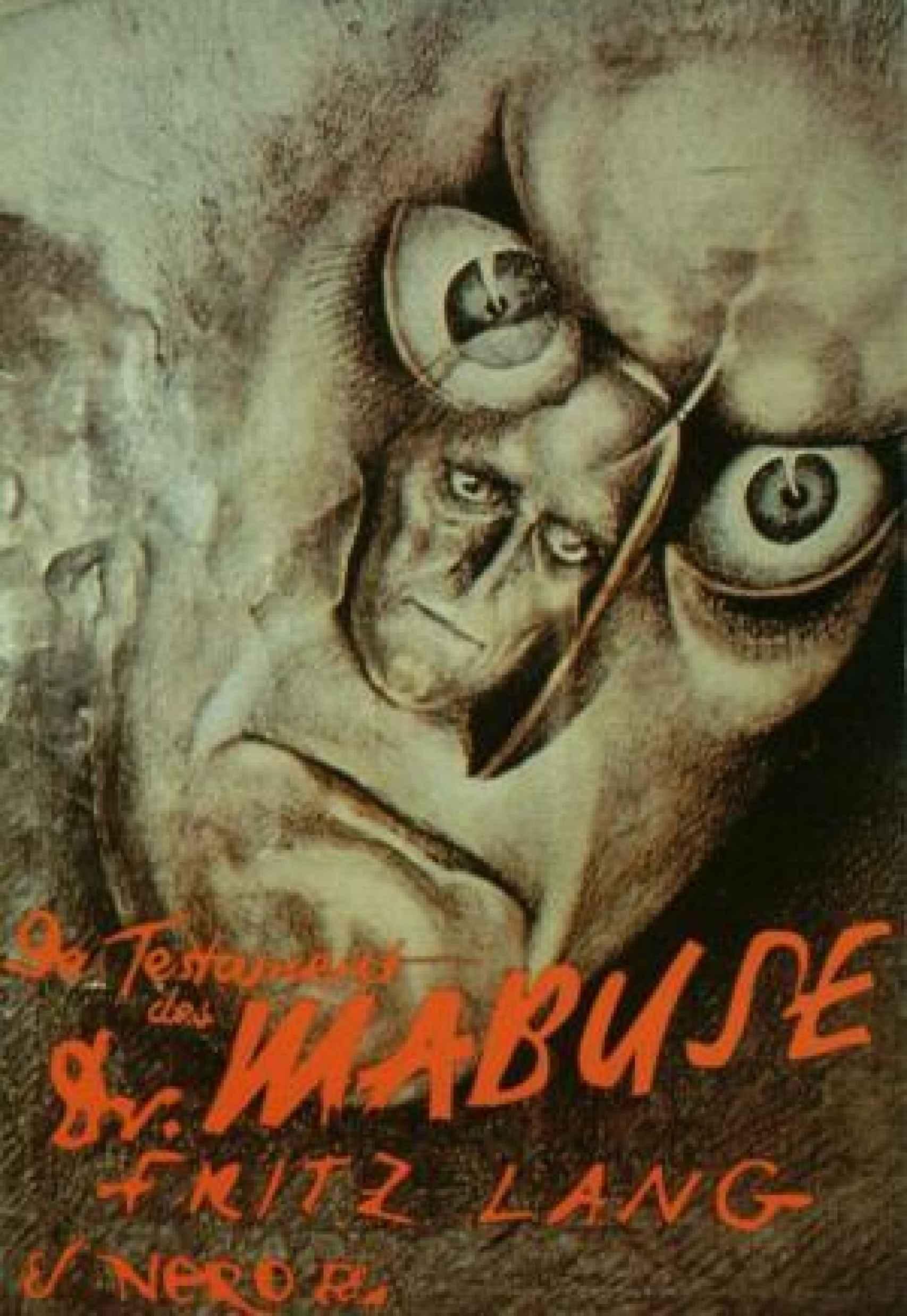 Cartel de El testamento del Dr. Mabuse, censurado por los nazis.
