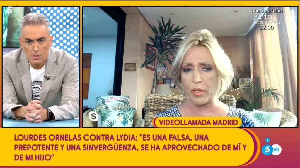 Lydia Lozano, hablando sobre la acusación que ha hecho en su contra Lourdes Ornelas, en 'Sálvame'.