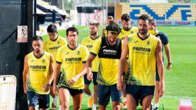 Jugadores del Villarreal durante la pretemporada