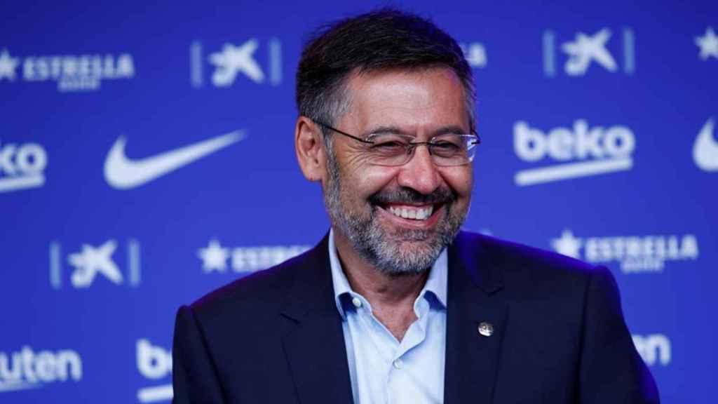 Josep Maria Bartomeu, durante la presentación de Ronald Koeman