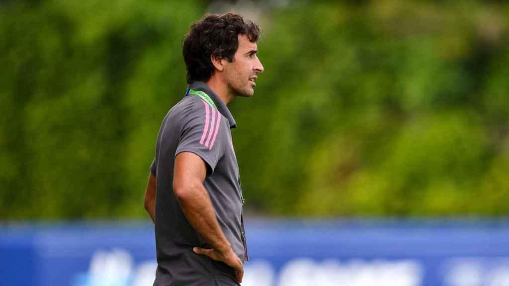 Raúl González Blanco, durante las semifinales de la UEFA Youth League
