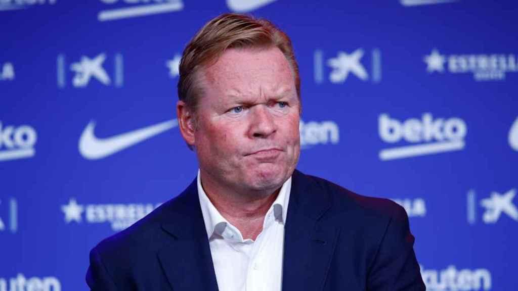 Ronald Koeman, en su presentación como nuevo entrenador del Barcelona