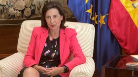 Margarita Robles durante la entrevista.