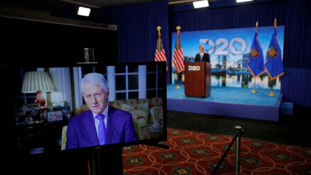 El expresidente Bill Clinton en su intervención en la Convención Nacional Demócrata.