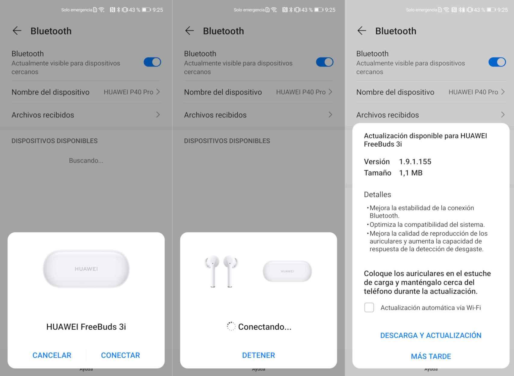 Usar los FreeBuds 3i con un móvil Huawei tiene sus ventajas