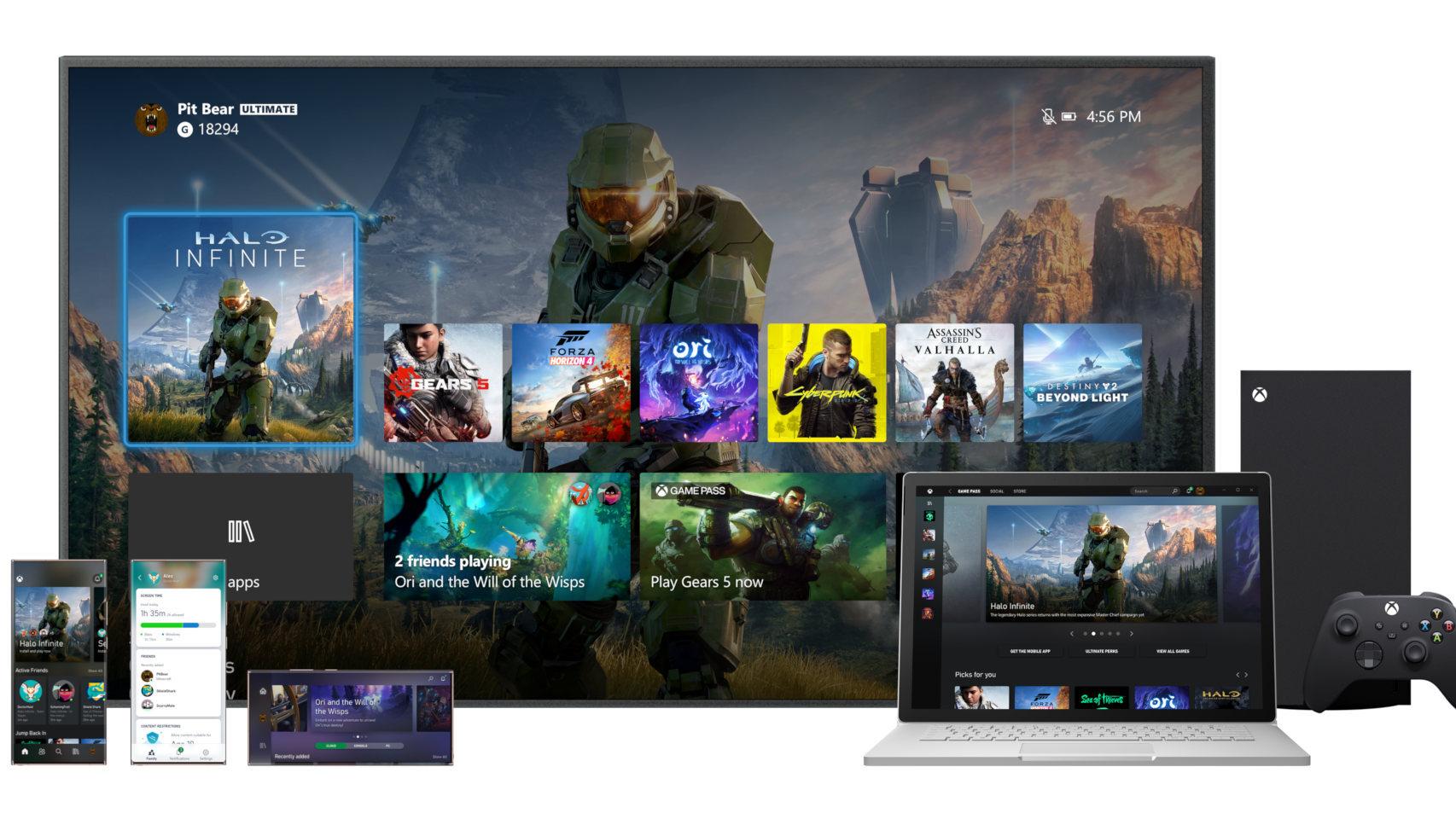 La nueva interfaz de Xbox