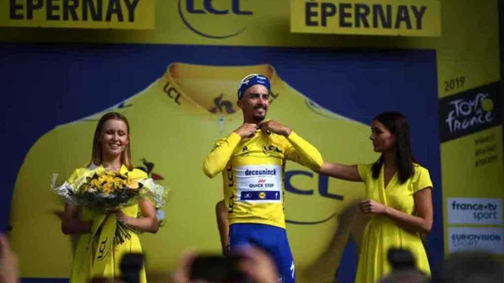 Julian Alaphilippe, con el maillot amarillo en la pasada edición del Tour de Francia