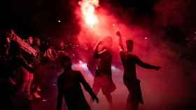 Ultras del PSG celebran el pase a la final de Champions