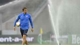 Julen Lopetegui, en el último entrenamiento antes del partido frente al Inter de Milán
