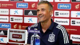 Luis Enrique, en rueda de prensa con la Selección