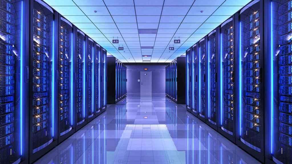 Una instalación de un centro de datos.
