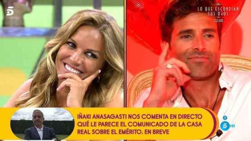 Marta López y Efrén Reyero en 'Sálvame'.