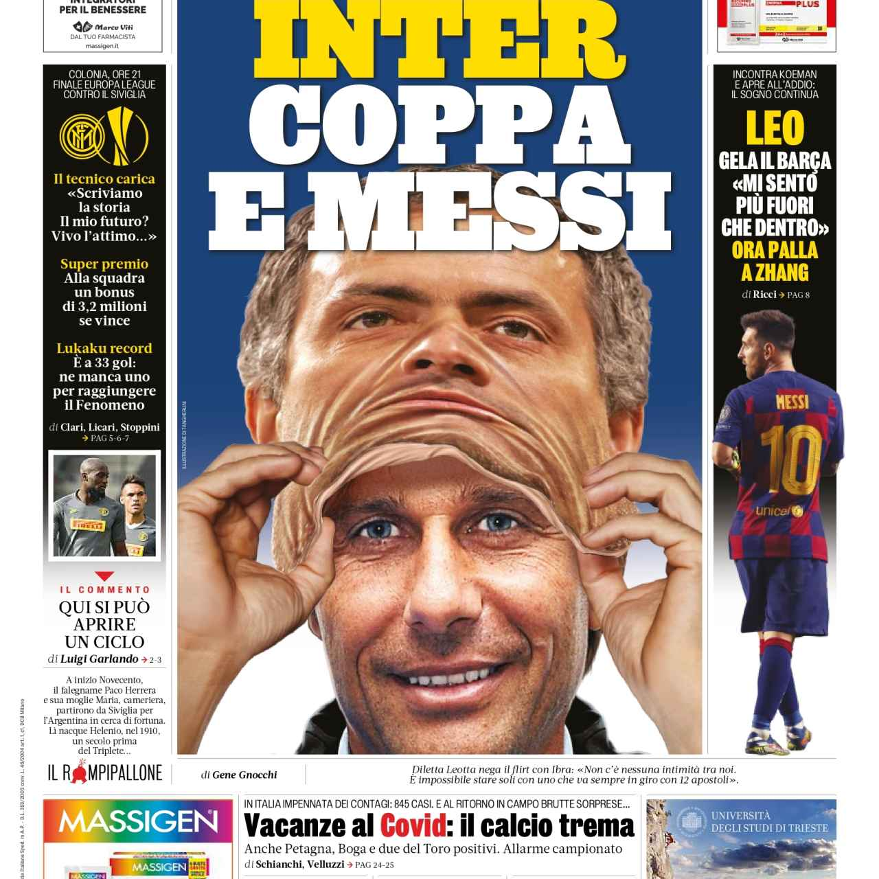 Portada de La Gazzetta dello Sport