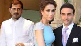 Iker Casillas, en un fotomontaje de JALEOS junto a Paloma Cuevas y Enrique Ponce.