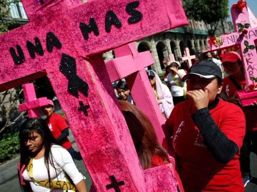 Protestas en contra de los asesinatos machistas en México.
