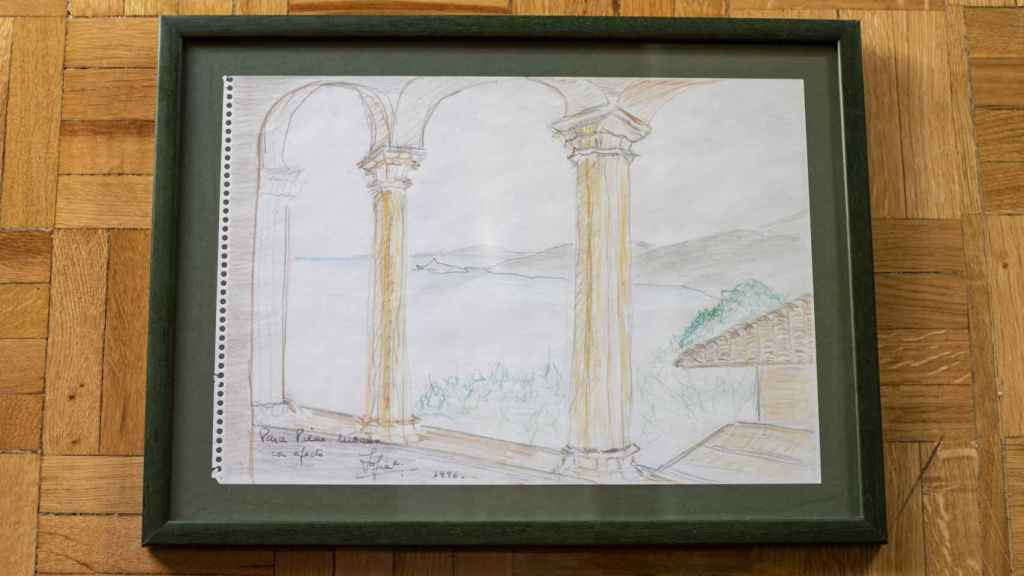El dibujo que la reina Sofía le hizo a Pilar Urbano.