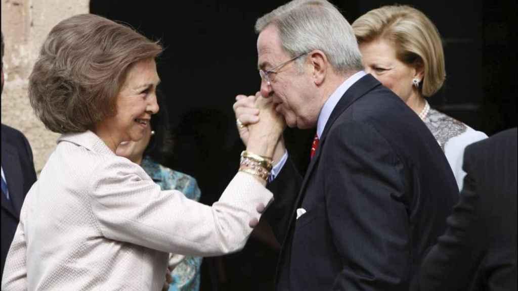 La reina Sofía y el rey Constantino.