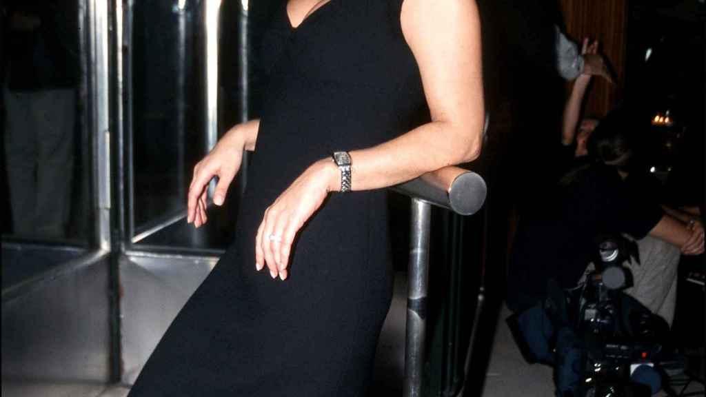 Terelu Campos a finales de los años 90 durante su etapa en Telemadrid.