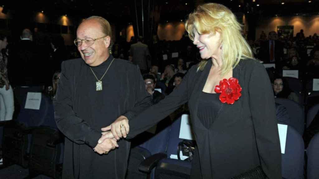 Rappel y Carmen Cervera, durante los premios Cofrade 2013.