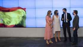 Pablo Casado con Ana Pastor, Cuca Gamarra y José Luis Martínez-Almeida.