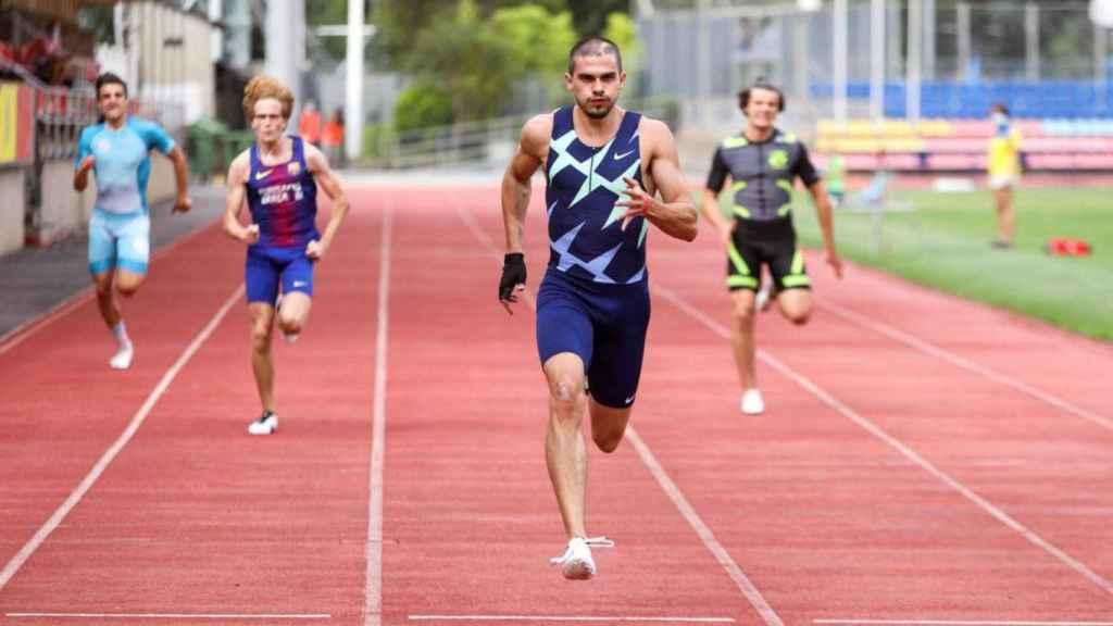 Bruno Hortelano en la carrera de 150  que corrió en Andorra