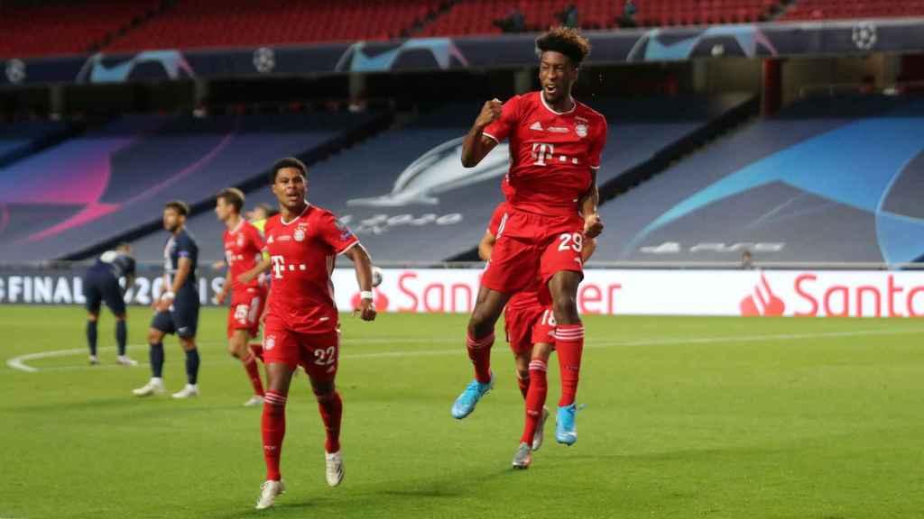 Coman celebra su gol en la final de la Champions League