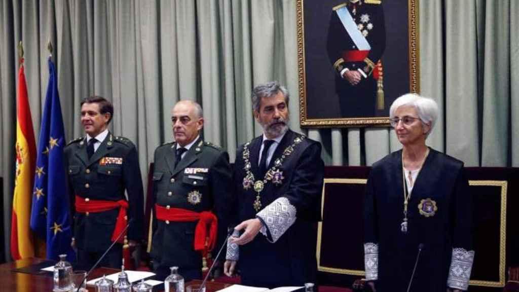 El presidente del CGPJ, Carlos Lesmes, el pasado octubre en la apertura del año judicial en la jurisdicción castrense./