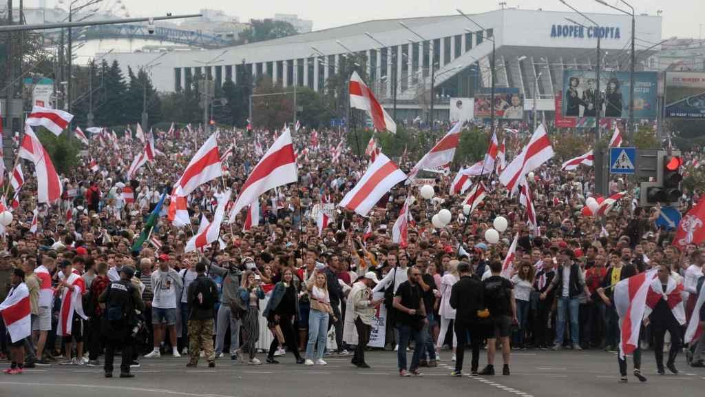 Imagen de la marcha celebrada en Minsk.