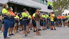 Trabajadores de Acciona.