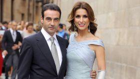 Enrique Ponce y Paloma Cuevas, en la boda de Miguel Ángel Perera y Verónica Gutiérrez.
