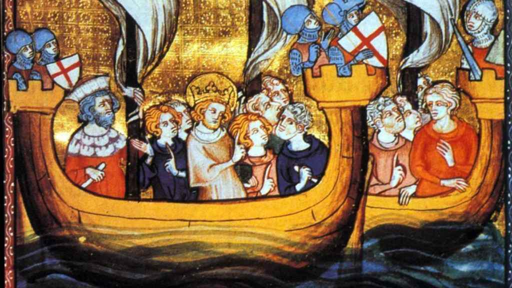 Luis IX en la Séptima Cruzada.