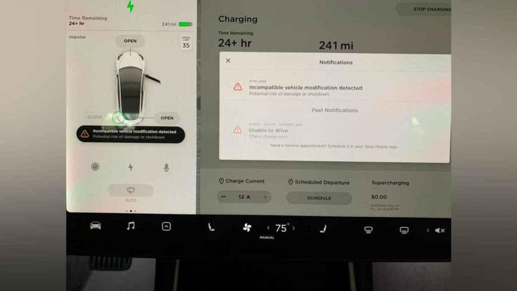 Advertencia de Tesla