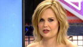 Miriam Sánchez durante su última aparición en televisión.