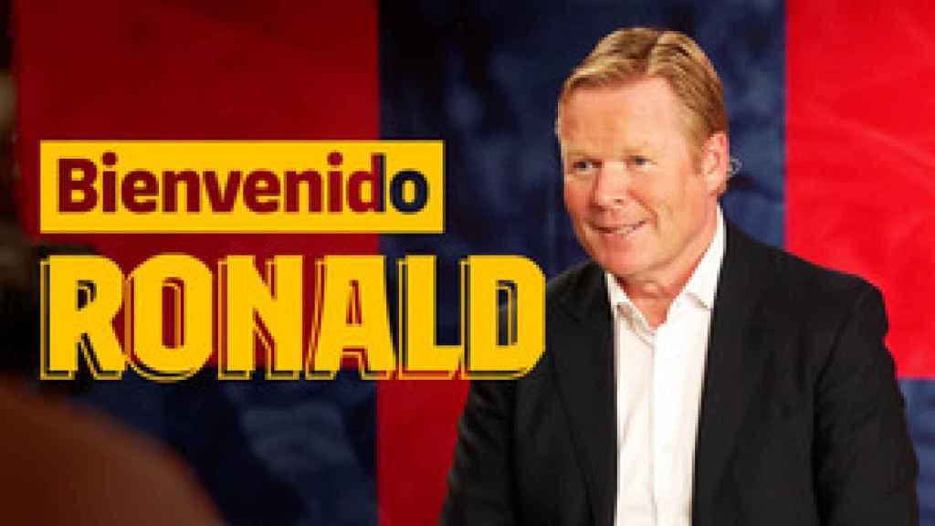 Ronald Koeman, en la televisión oficial del Barça