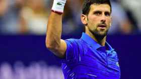 Novak Djokovic celebra una victoria en el Us Open