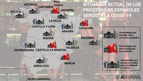 El caótico mapa del cierre de los prostíbulos, comunidad a comunidad: ¿por qué siguen abiertos?