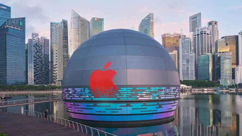 La nueva tienda de Apple está en mitad del agua