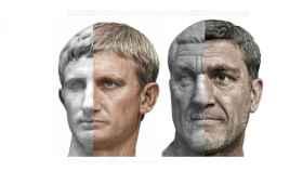 Emperadores Augusto y Maximino El Tracio.