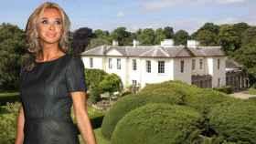Corinna Larsen y su palacete en Inglaterra, en un fotomontaje de JALEOS.
