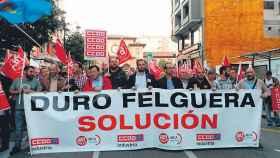 Protesta de trabajadores de Duro Felguera.