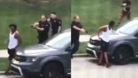 Un agente de policía dispara siete veces a Jacob Blake.