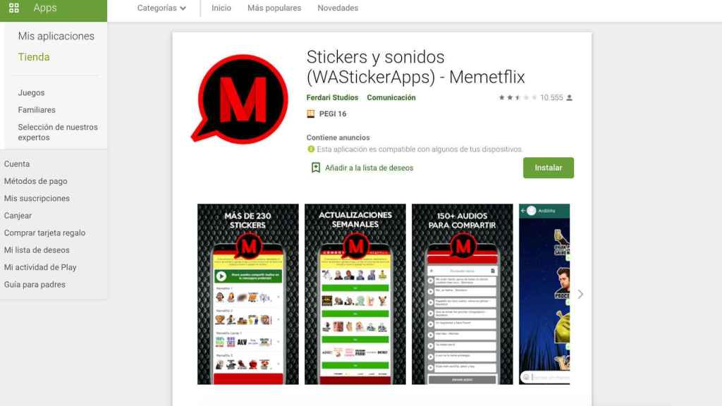 There are apps that allow us to install stickers