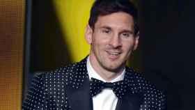 Lionel Messi, durante la gala del Balón de Oro.