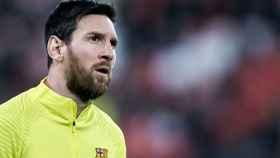 Lionel Messi, durante un partido con el Barça