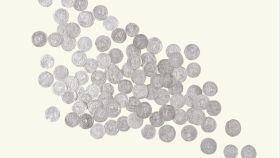 Conjunto de monedas que componen el Tesoro de Recópolis.