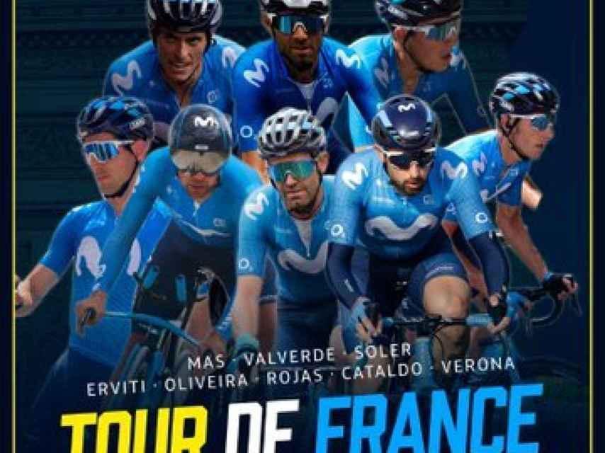 El ocho de Movistar Team para el Tour de Francia 2020